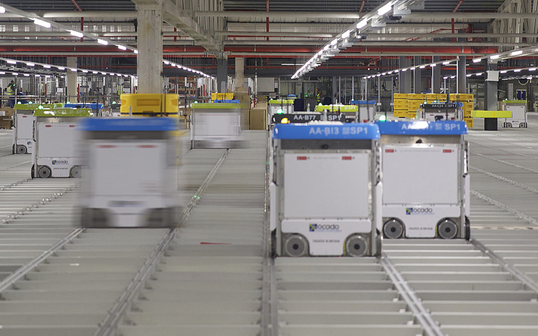 Ocado warehouse bots